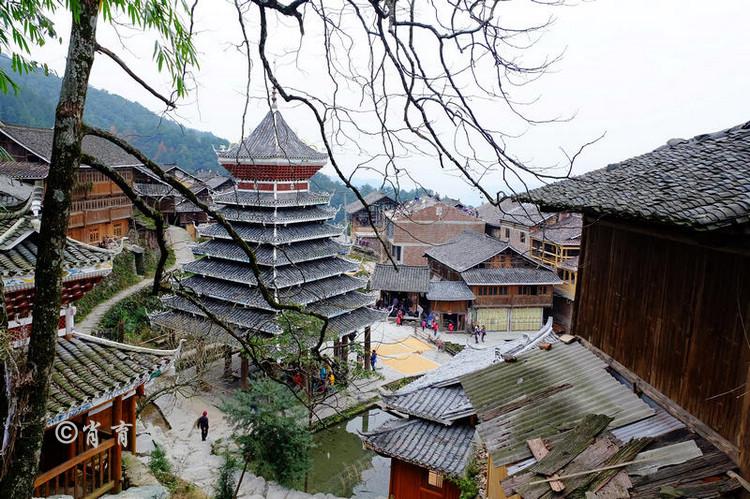 黔东南堂安侗寨,有最原始的吊脚楼,还有世界上唯一的侗族生态博物馆